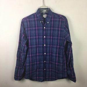J. Crew factory slim fit plaid shirt